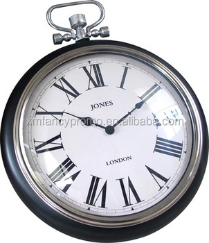Antique Pocket Watch Design Round Wall Clock Metal Product On Alibaba