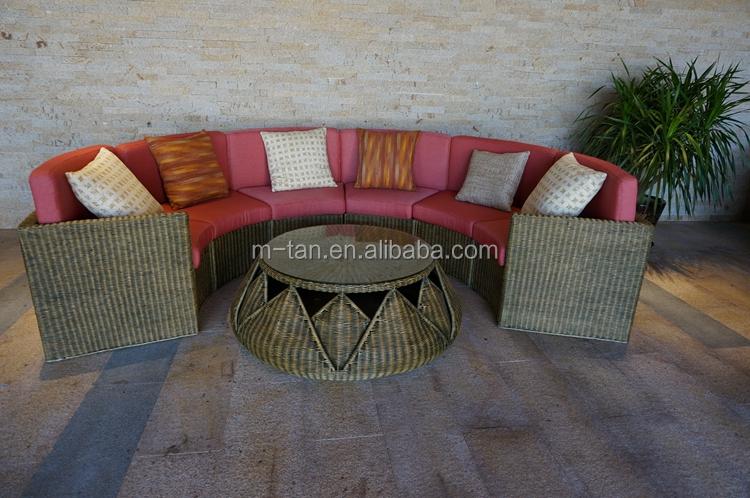 Patio Rattan Sofa Outdoor Semi Circle Furniture Half Round Moon Circle Outdoor Sofa Buy Half