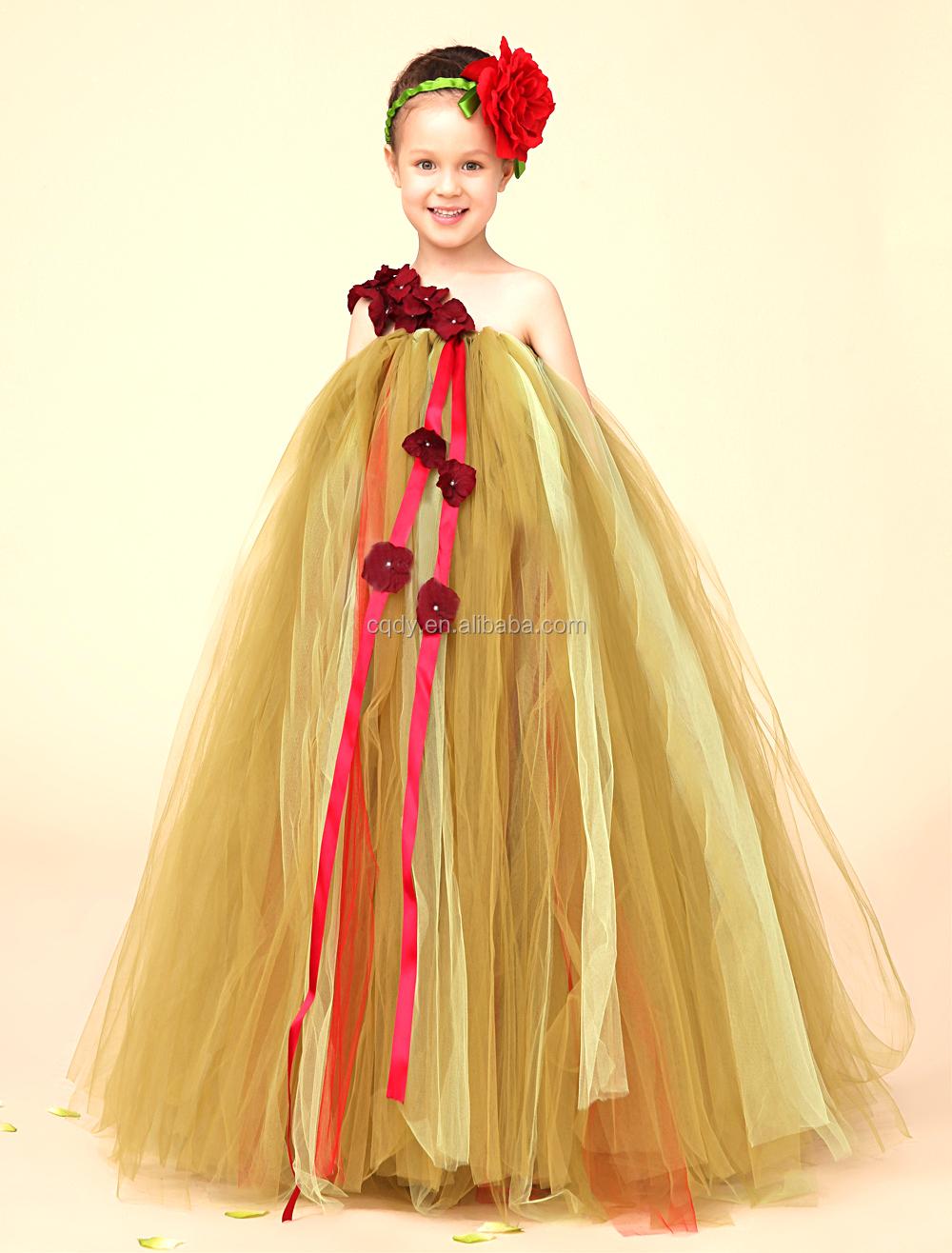 2016 New Korean Model Girl Dress Kids Wedding Dress Baby Girl