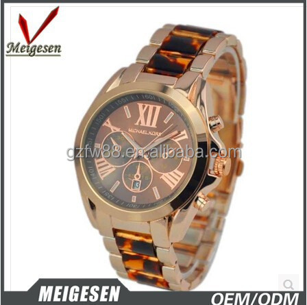 Fashion new style rose golden printing watch women m k
