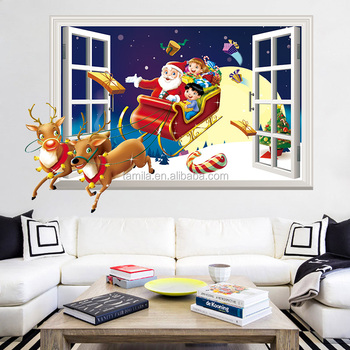 Window Stickers Merry Christmas Wall Sticker Home Shop Windows ...