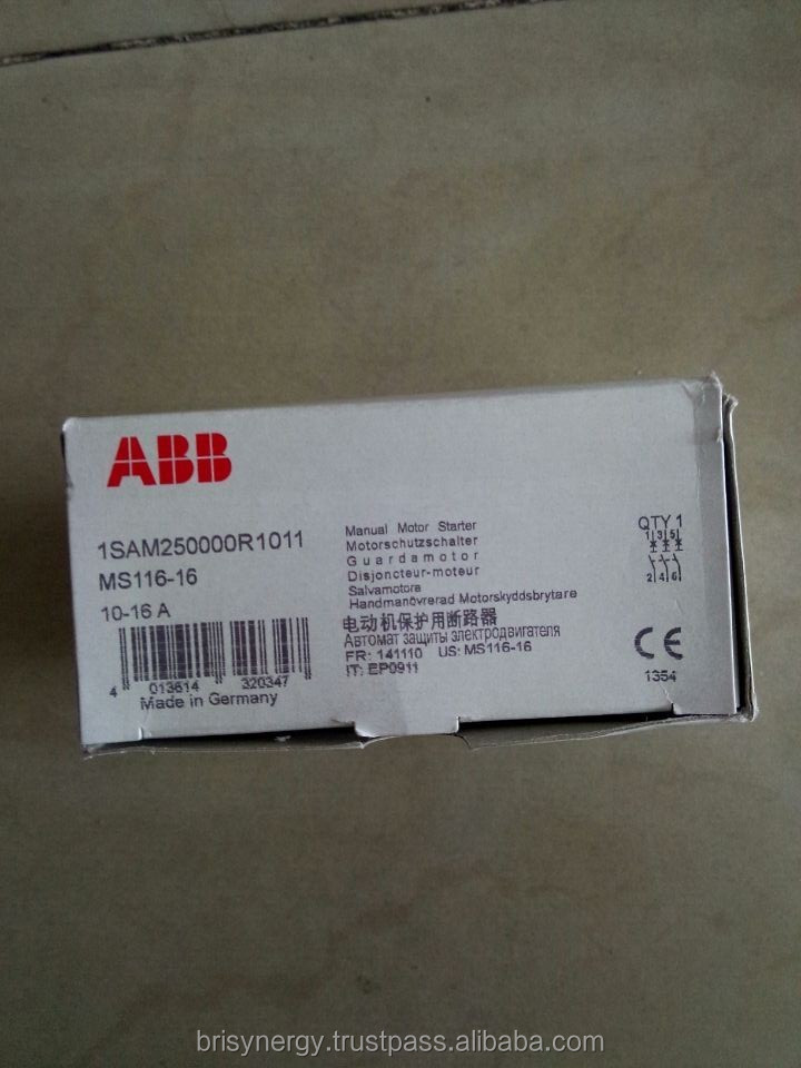 ABB MS116-16 Manual Motor Starter 10-16A NEW 1yr Warranty