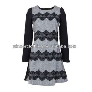 Women clothing garment apparel direct factory OEM/ODM manufacturing special occasion dresses with peter pan collar