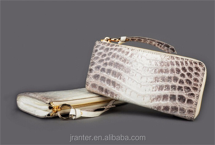 Fashion trendy Handmade women clutch wallet crocodile leather women clutch bag