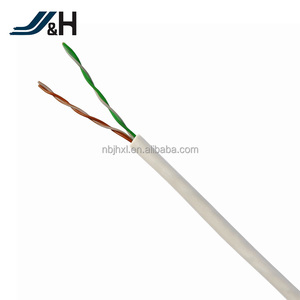 Round flat cat3 cat5 cat5e cat6 UTP 2 pair lan cable for network