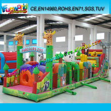 Parcours Zoo-Inflatable Forest Sports Park,Full Digital Printing Inflatable Obstacle Course