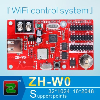 Zhonghang WIFI single and double color p10 rgb display led control card ZH-W0