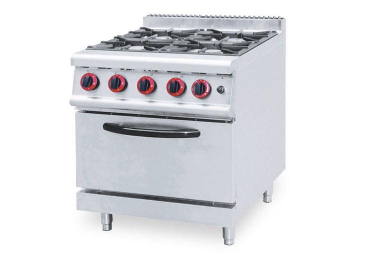 Equipo De Cocina Industrial 4 Quemadores Gas Estufa Gama Con Gabinete
