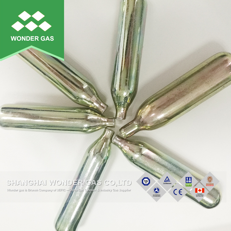 8g n2o/co2 gas cartridge mini cilinder
