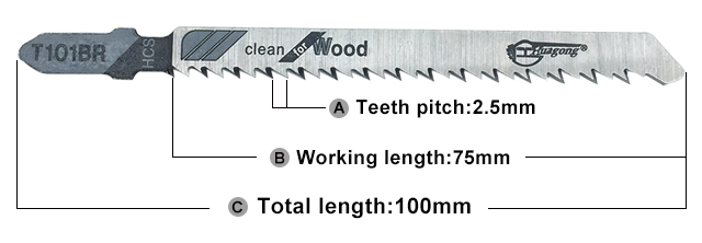 Long life unbreakable T101BR wood cutting jia saw blade set