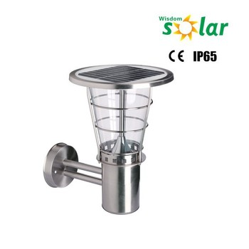 Stainless Steel Wall Lamp Outdoor With Solar Panel,House Lights ...