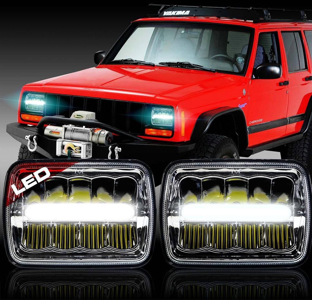 Factory Price Jeep Cherokee Xj Truck 4x6 Led Headlight High Low Beam