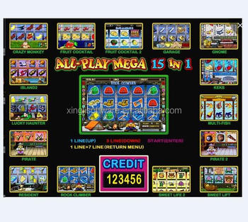 all play mega 15 in 1 slot game pcb