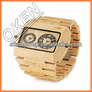 2016 professional supplier Japan Move wood face watch