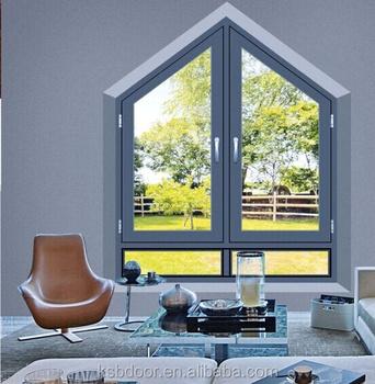 Conception De Maison Moderne En Alliage D\'aluminium Gris Fixe Spécial  Fenêtre Triangulaire - Buy Fenêtres En Aluminium,Fenêtre Fixe  Spéciale,Fenêtre ...