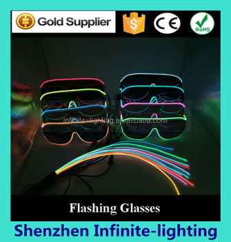 9fca1ab097f588 China Party Supplier Plastic El Wire Flashing Sunglasses
