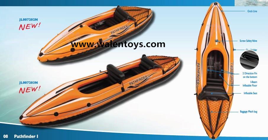 Jilong K5 Kayak Inflatable Backpack Storage Canoe Rafting Water Boat