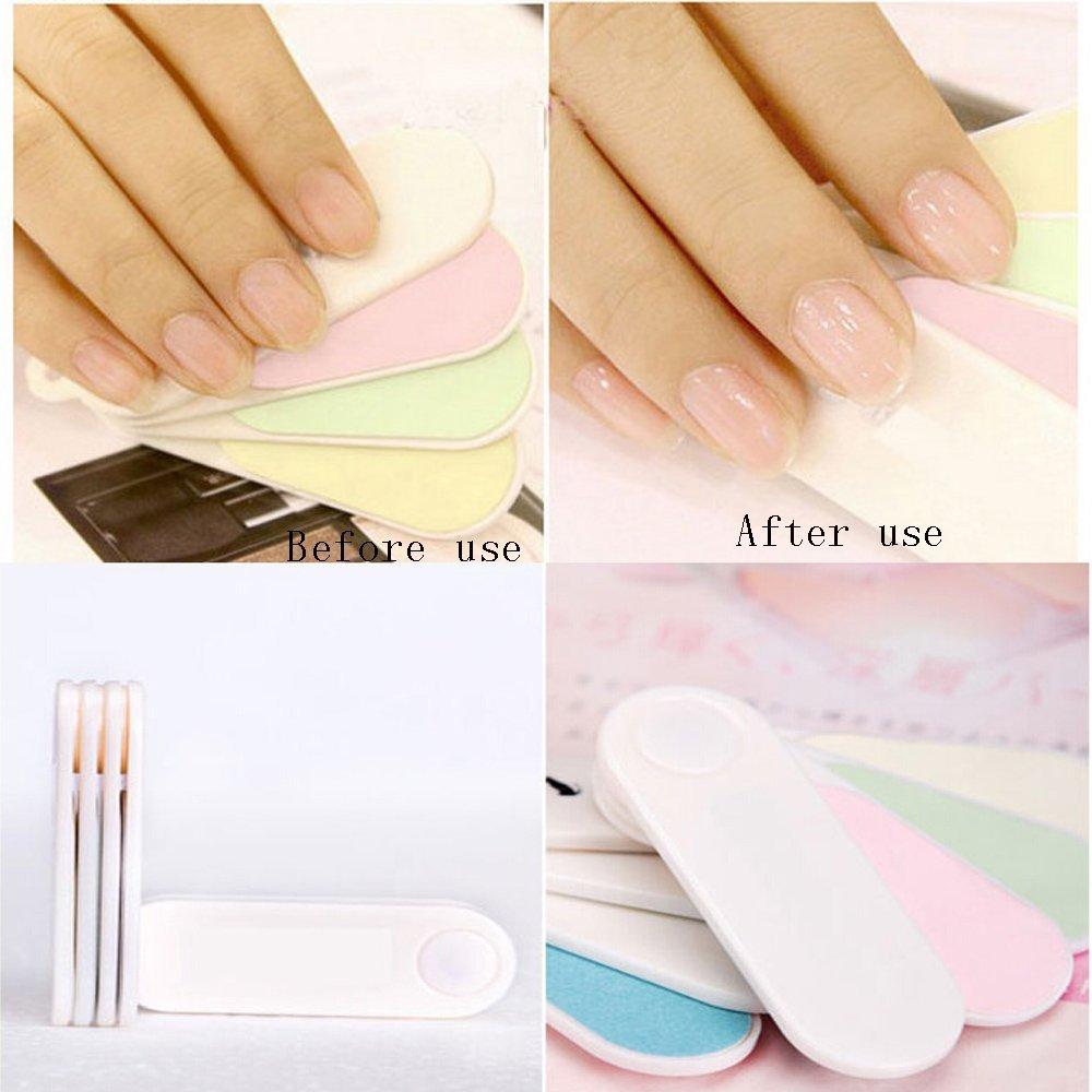Buy Pro Womens Acrylic Nail Art Tips Buffer Buffing Sanding Block ...
