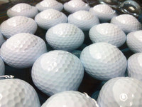 golf practice colored floating golf ball