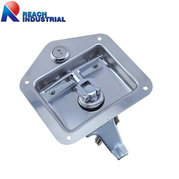 garage door lock handle. Heavy Duty Truck Or Trailer Toolbox Flush Mount Polished Stainless Steel Key-Locking Recessed Garage Door Lock Handle