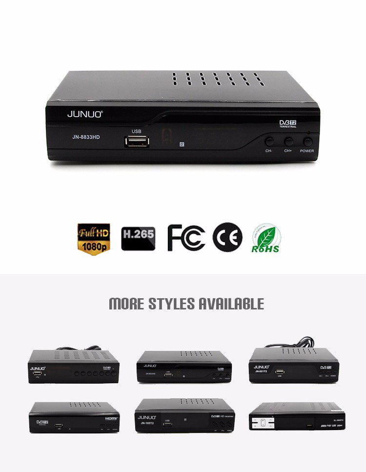 hd icons receiver DVB-T2 Boxdigital tv box digital set top box for colombia