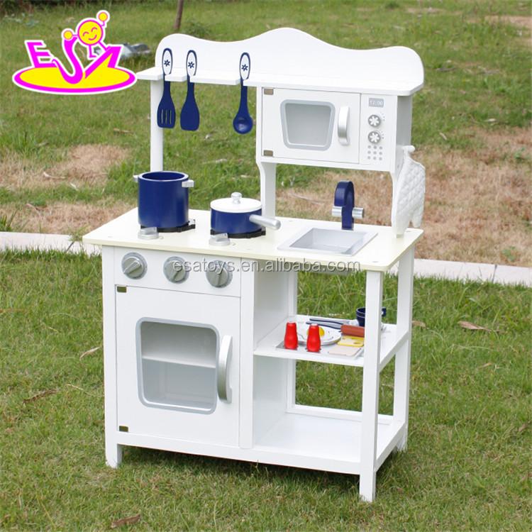 Großhandel Billig Kinder Pretend Play Weiß Holzspielzeug Küche Spielset  W10C045