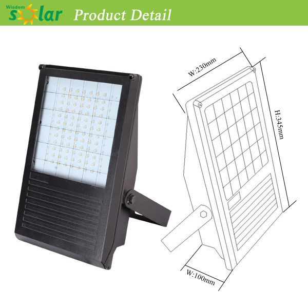 all in one portable solar powered led flood led solar flood light