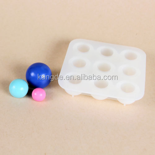 Decorative Soap Balls: Ball Sphere Shape Inlaying Silicone Decorative Soap Molds