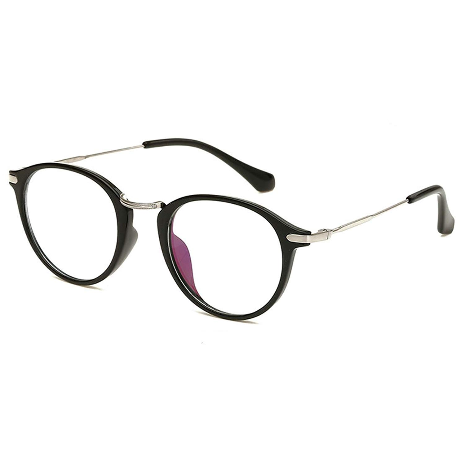 4d462bf3a2a3a Get Quotations · D.King Vintage Inspired Horn Rimmed Round Clear Lens  Glasses Eyeglasses Frames