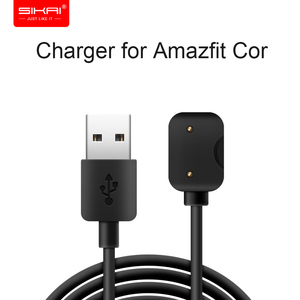 SIKAI Magnetic USB Charge Cable Watch Charger for Amazfit Cor Smart Bracelet Fast Charging Cable