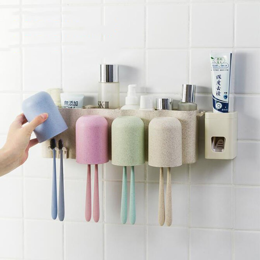 Cup Holders Toothbrush Holder Contemporary Strong Sucker Suction Bathroom Lavatory Rinse Cup