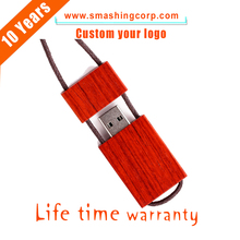 Promotional High capacity cheap 16gb wooden USB wholesale , bulk custom cheap Necklace wooden Pen driver for souvenirs