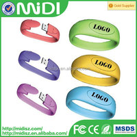 Colourful silicon wristband usb disk,usb flash drive wrist,usb flash memory wristbands for event