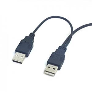 Dual USB 2.0 Male to Standard B Male Y Cable 80cm for Printer & Scanner & External Hard Disk Drive CableCC
