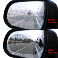 2PCS Anti fog film Rainproof film Car Review mirror rain film Round sticker car accessories