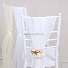 White Fashionable Design Wholesale Wedding Chiffon Chair Sash