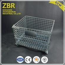 Collapsible Stacking Wire Mesh Storage Container for Metal Folding Accessories and Spare Parts