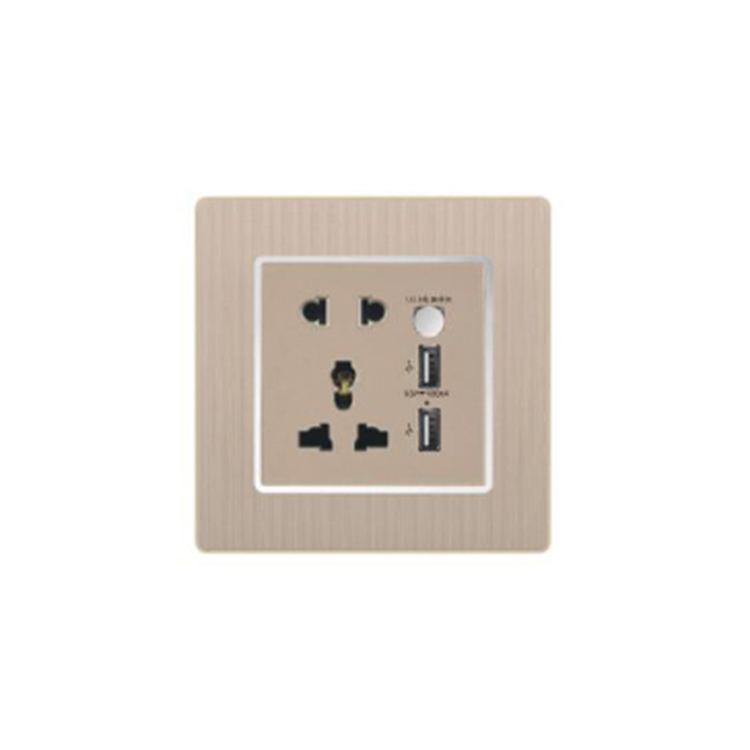Newest Sale Excellent Quality PC 10A 250V 5Pin Multi Function Socket With 2 USB On Sale
