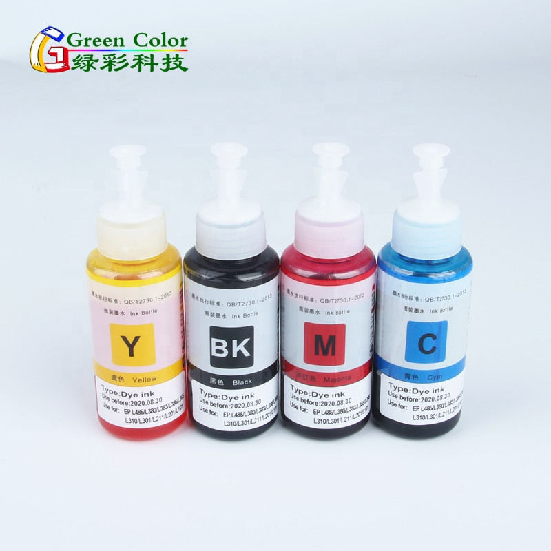 T664 bottle dye refill ink for Epson L3050 L3060 L3070 L1455 Inkjet  Printer, View T664 bottle ink, Greencolor Product Details from Shenzhen  Greencolor