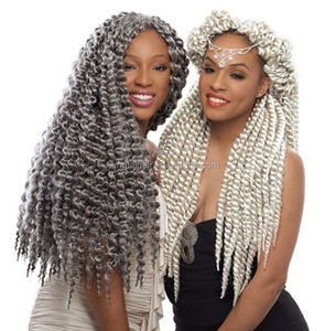 Havana Mambo Twist Braids 2x Senegalese jumbo box braid Silver Gray Red Blue Purple Blonde synthetic crochet ombre braiding hair
