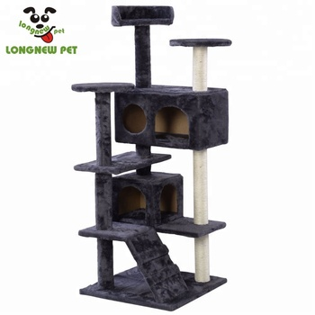 Whole Cat Plush House Simple Tree Furniture Scratching Beige Modern Climber