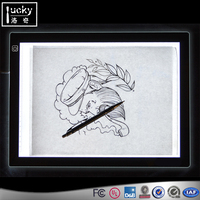 Table Artist Light Tracing Box,Acrylic Led Stencil Drawing Board Pad