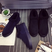 SS0105 Wholesale China men canvas shoes 2018 winter warm casual slip-on shoes for men