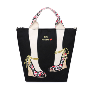 2018 factory price Fashion Tote Bag New Womens Cute Cartoon Canvas Shopping Bag girls backpack on sale