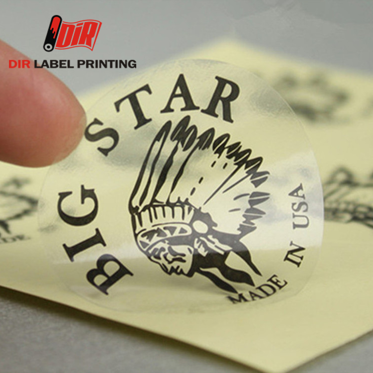 Customized self adhesive PVC vinyl transparent 3m printing clear labels sheets