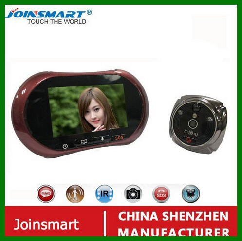 new arrival OEM/ODM digital peephole night vision visible real time video talking sip door phone