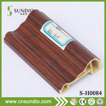 High Glossy Internal Wpc Base Pvc Laminate Corner Moulding