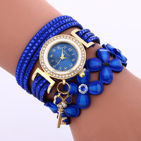 Fashion Actylic Flower Leather wrap watch Wholesale DYWH-0070