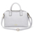2017 New trendy products NO. 7457 unique webbing design light gray shoulder bag PU woman leather handbag