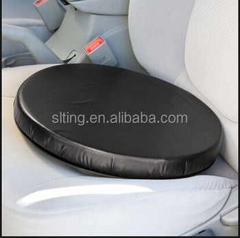 Pu Leather Rotation Swivel Car Seat Cushion For Wheelchair/disabled ...